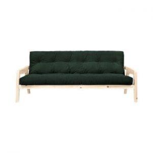 Canapea extensibila Karup Design Grab Raw/Dark Green
