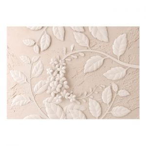 Tapet format mare Bimago Beige Paper Flowers, 400 x 280 cm
