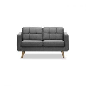 Canapea cu 2 locuri Vivonita Magnus, gri deschis