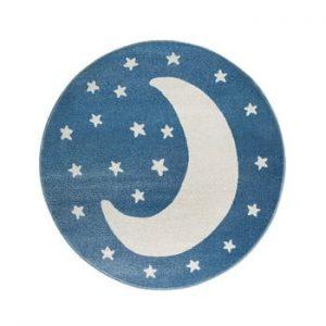 Covor rotund KICOTI Moon, ø 80 cm, albastru-alb