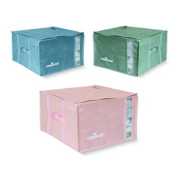 Set 3 cutii de depozitare cu vid Compactor Color Edition Medium, 40 x 25 cm