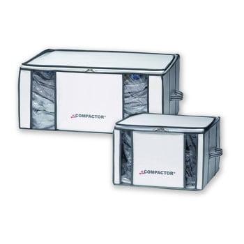 Set 2 cutii de depozitare cu vid pentru haine Compactor Life 3D