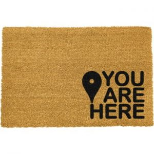 Covoras intrare din fibre de cocos Artsy Doormats You Are, 40 x 60 cm, negru