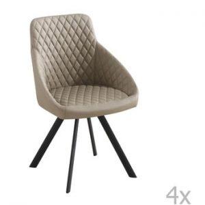 Set 4 scaune Tomasucci Tips, bej