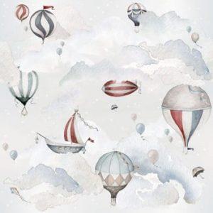 Set autocolante de perete Dekornik Balloons Adventure