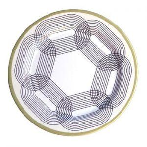 Set 6 farfurii din melamina Sunvibes Maillon Beige, ⌀ 25 cm