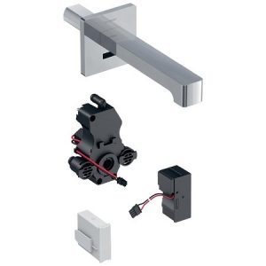 Baterie electronica lavoar Geberit Brenta 17 cu alimentare de la retea pentru cutie functionala incastrata