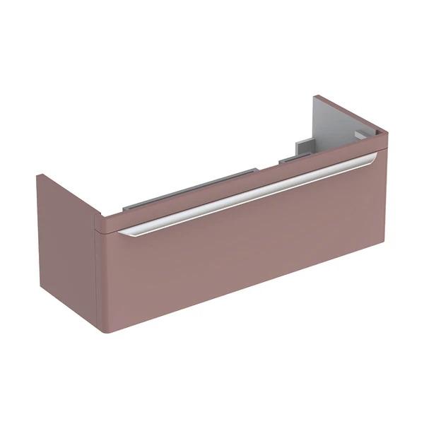 Dulap baza pentru lavoar dublu suspendat taupe Geberit Myday 1 sertar 116 cm