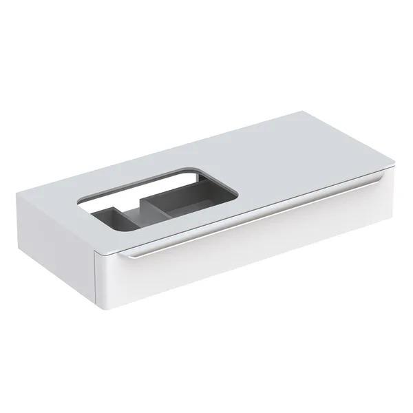 Dulap baza pentru lavoar incorporat stanga suspendat alb Geberit Myday 1 sertar 115 cm
