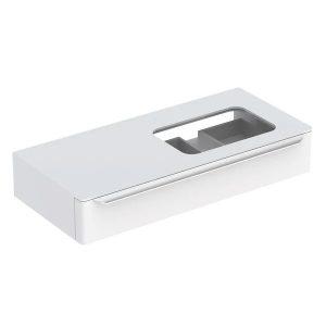 Dulap baza pentru lavoar incorporat suspendat alb Geberit Myday 1 sertar 115 cm