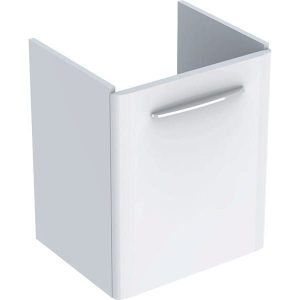 Dulap baza pentru lavoar suspendat Geberit Selnova Square alb 1 usa 55 cm