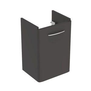 Dulap baza pentru lavoar suspendat Geberit Selnova Square negru 1 usa 45 cm