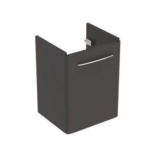 Dulap baza pentru lavoar suspendat Geberit Selnova Square negru 1 usa 50 cm
