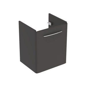 Dulap baza pentru lavoar suspendat Geberit Selnova Square negru 1 usa 55 cm