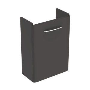 Dulap baza pentru lavoar suspendat Geberit Selnova Square negru 1 usa proiectie mica 45 cm