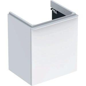 Dulap baza pentru lavoar suspendat Geberit Smyle Square alb 1 usa opritor stanga 54 cm