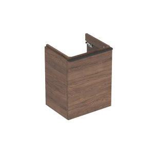 Dulap baza pentru lavoar suspendat Geberit Smyle Square nuc 1 usa opritor stanga 50 cm