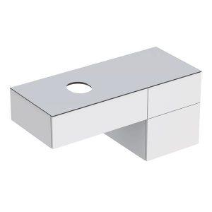 Dulap baza pentru lavoar pe blat Geberit Variform alb 3 sertare 120 cm