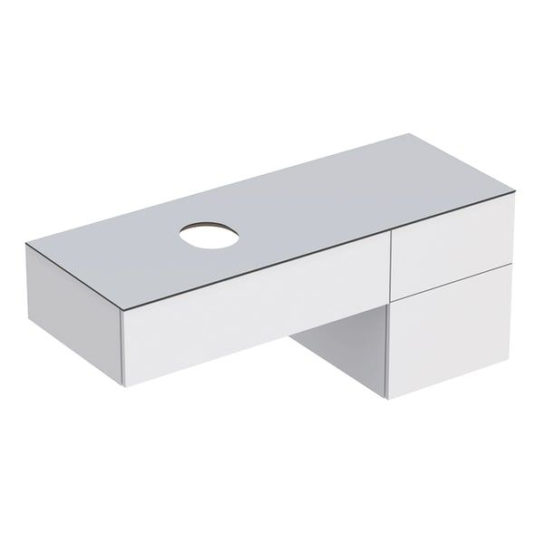 Dulap baza pentru lavoar pe blat Geberit Variform alb 3 sertare 135 cm