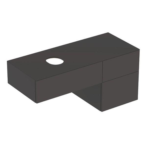 Dulap baza pentru lavoar pe blat Geberit Variform negru 3 sertare 120 cm