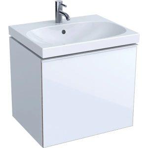 Dulap baza pentru lavoar suspendat alb Geberit Acanto 1 sertar 60 cm