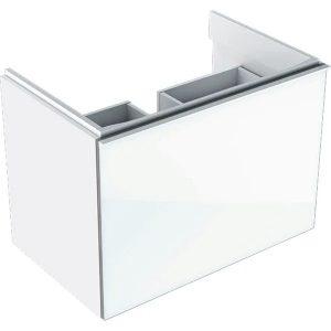 Dulap baza pentru lavoar suspendat alb Geberit Acanto 1 sertar 74 cm