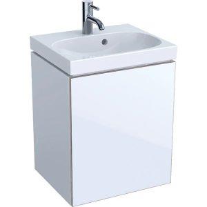 Dulap baza pentru lavoar suspendat alb Geberit Acanto 1 usa 45 cm