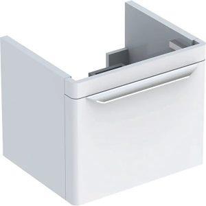 Dulap baza pentru lavoar suspendat alb Geberit Myday 1 sertar 50 cm