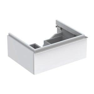 Dulap baza pentru lavoar suspendat alb lucios Geberit Icon 1 sertar 60 cm