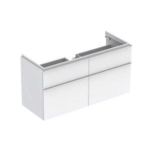 Dulap baza pentru lavoar suspendat alb lucios Geberit Icon 4 sertare 119 cm