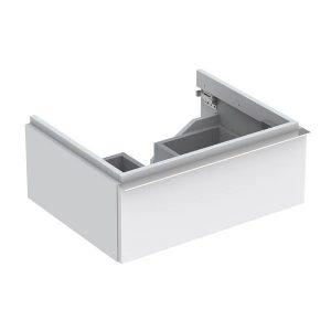 Dulap baza pentru lavoar suspendat alb mat Geberit Icon 1 sertar 60 cm