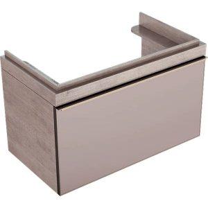 Dulap baza pentru lavoar suspendat bej Geberit Citterio 1 sertar 89 cm