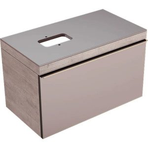 Dulap baza pentru lavoar suspendat bej Geberit Citterio 1 sertar stanga sau dreapta 89 cm
