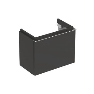 Dulap baza pentru lavoar suspendat negru Geberit Icon 1 sertar 52 cm