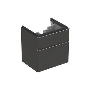 Dulap baza pentru lavoar suspendat negru Geberit Icon 2 sertare 60 cm