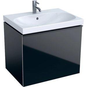 Dulap baza pentru lavoar suspendat negru Geberit Acanto 1 sertar 64 cm