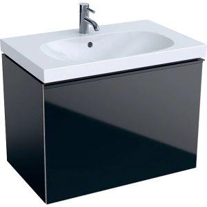 Dulap baza pentru lavoar suspendat negru Geberit Acanto 1 sertar 74 cm