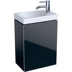Dulap baza pentru lavoar suspendat negru Geberit Acanto 1 usa 40 cm