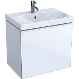 Dulap baza pentru lavoar suspendat proiectie mica alb Geberit Acanto 1 sertar 60 cm