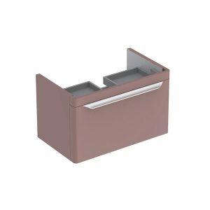 Dulap baza pentru lavoar suspendat taupe Geberit Myday 1 sertar 68 cm