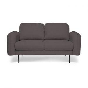 Canapea cu 2 locuri Vivonita Skolm, gri antracit