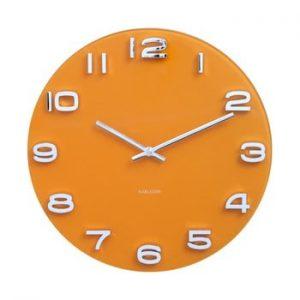 Ceas Karlsson Vintage, ø 35 cm, portocaliu