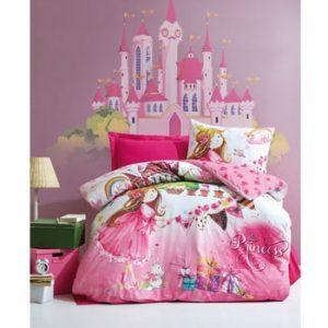 Lenjerie de pat cu cearşaf pentru copii Angie, 160 x 220 cm