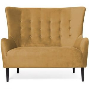 Canapea cu 2 locuri Vivonita Blair, galben inchis