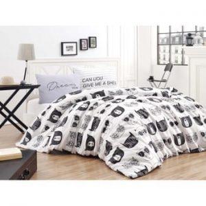 Lenjerie si cearsaf pentru pat dublu Permento Mulida, 200 x 220 cm