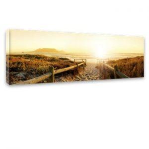 Tablou Styler Canvas Harmony Beach II, 45 x 140 cm