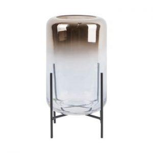 Vaza din sticla PT LIVING Silver Fade, inaltime 23,5 cm