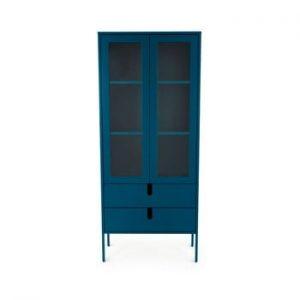 Vitrina Tenzo Uno, latime 76 cm, albastru petrol