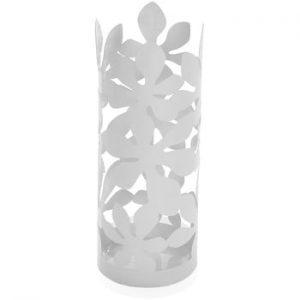 Suport metalic pentru umbrele Versa Flores, inaltime 49cm, alb