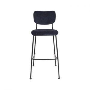 Set 2 scaune de bar Zuiver Benson, inaltime 102,2 cm, albastru inchis
